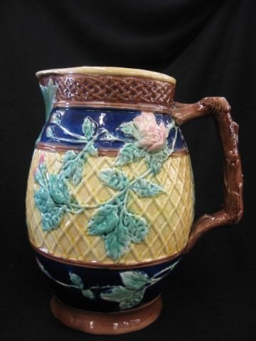 5: Majolica Pottery Pitcher,
