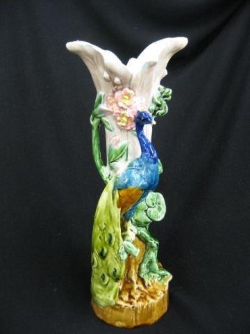 7: European Majolica Pottery Lamp Base,