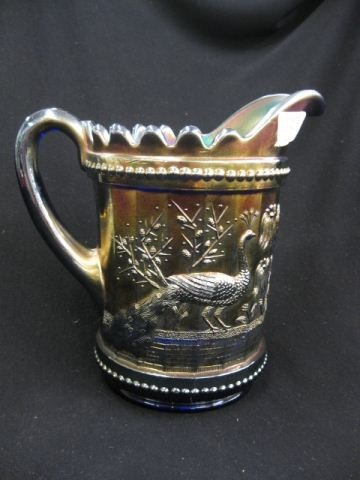 8: Northwood Carnival Glass Pitcher,