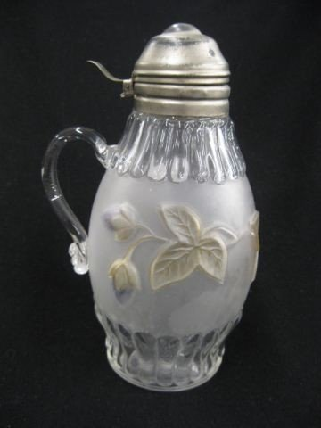 18: Victorian Art Glass Syrup Pitcher,