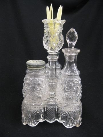 22: Victorian Glass Castor Set,