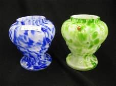 45 Pair of Victorian Art Glass Vases