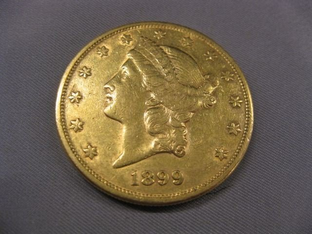 251D: 1899-S U.S. $20.00 Liberty Head Gold Coin,