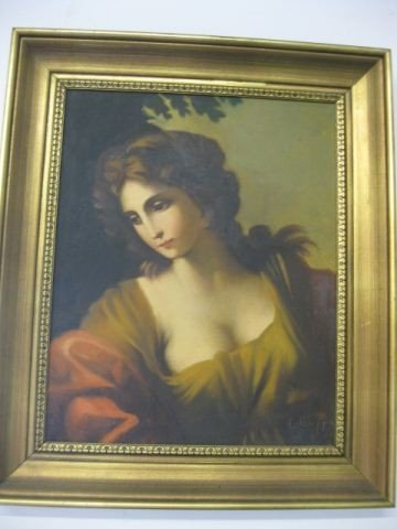 454B: C. Caippa, Oil, Portrait of a lady,