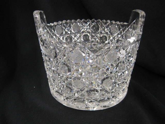 503: Brilliant Period Cut Glass Ice Tub, feathered star