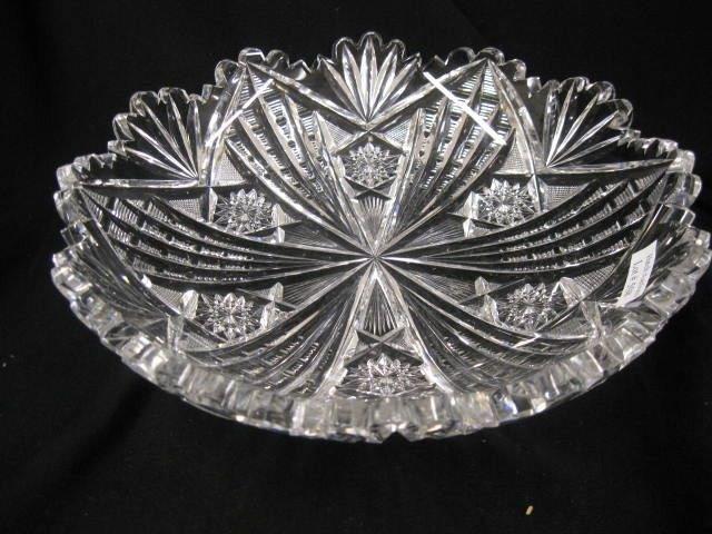 508: Libbey Brilliant Period Cut Glass Dish, outstandin