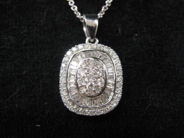 510: Diamond Pendant, 90 round & baguette diamonds tota