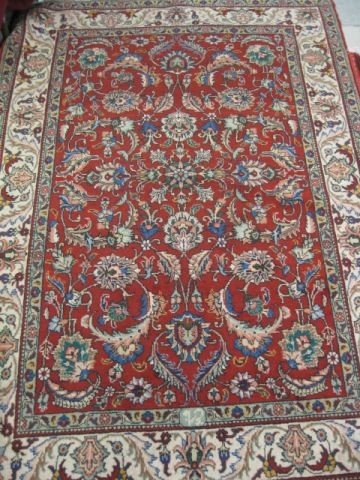 515: Tabriz Persian Handmade Rug, elaborate floral on r