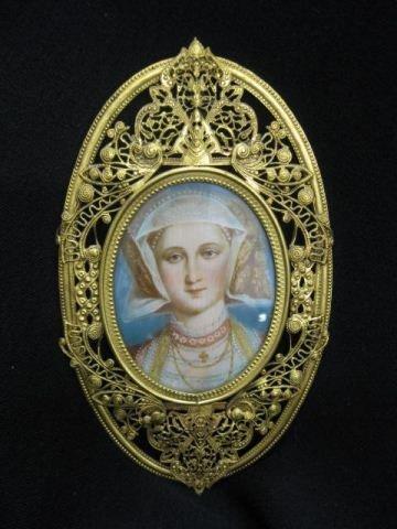 522: Miniature Portrait on Ivory of Beatrice, unusual s