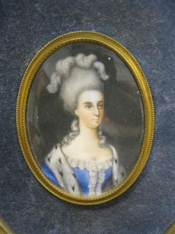 "523: Miniature Portrait on Ivory of a Lady, 2"" x 2 3/4"""