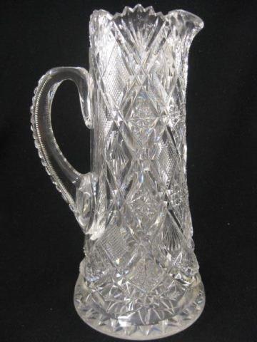 536: Brilliant Period Cut Glass Champagne Pitcher,