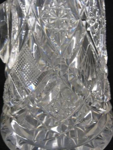 536: Brilliant Period Cut Glass Champagne Pitcher, - 3