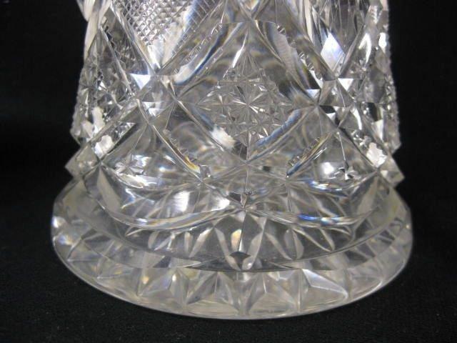 536: Brilliant Period Cut Glass Champagne Pitcher, - 4