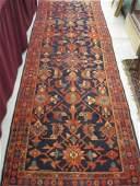 1074: Hamadan Persian Handmade Runner, geometrics, red