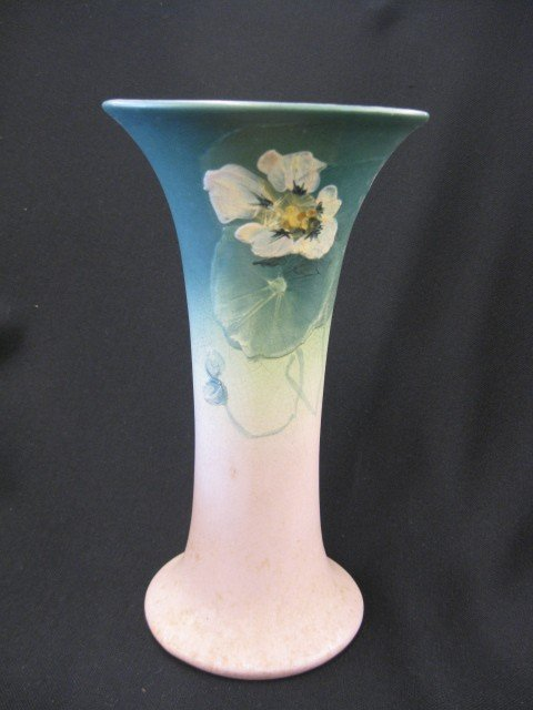 "8: Weller ""Hudson"" Art Pottery Vase, fine handpainted"