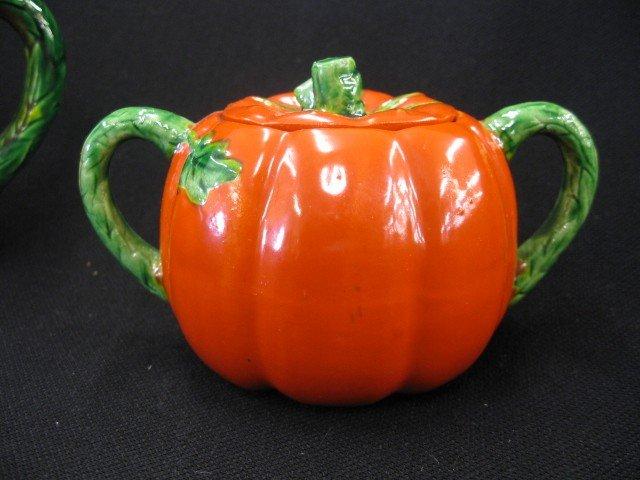 42: 3 pc. Occupied Japan Tea Set, figural tomato design - 3