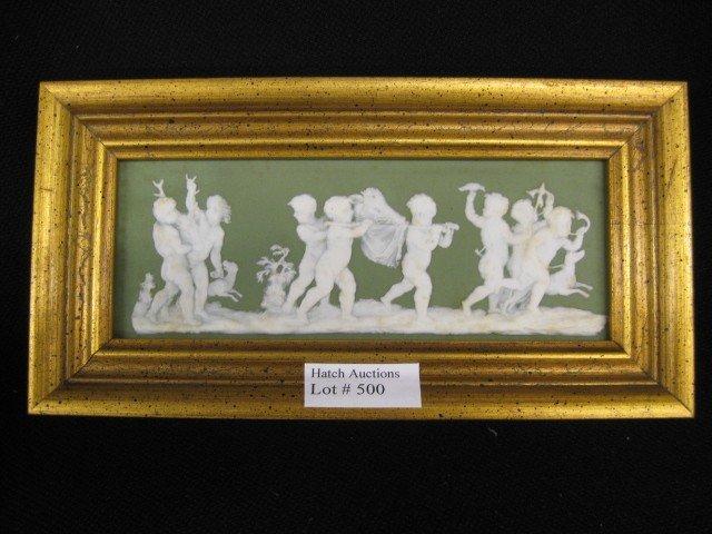 500: Wedgwood Jasperware Plaque, putti or children at p