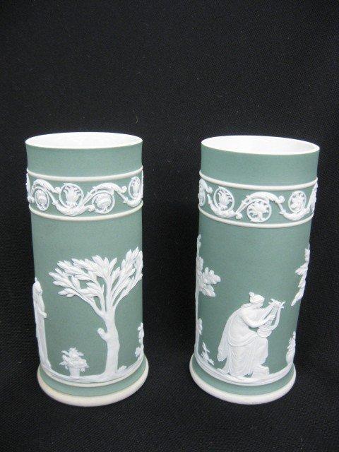 503: Pair of Wedgwood Jasperware Vases, classical scene