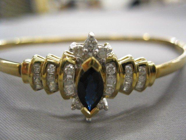 510A: Sapphire & Diamond Bracelet,