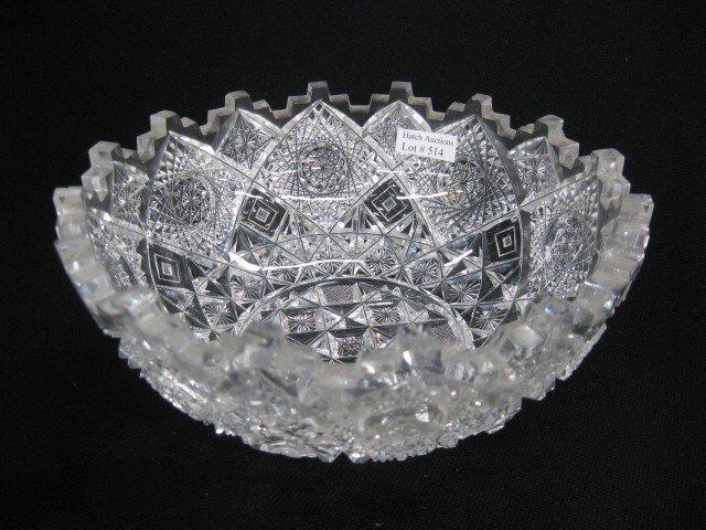 """514: Clark Cut Glass Bowl """"Prima Donna"""",""""Triple Square"""""""