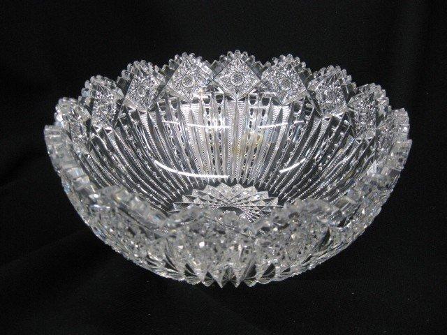 516: Cut Glass Bowl, gorgeous design, brilliant period,