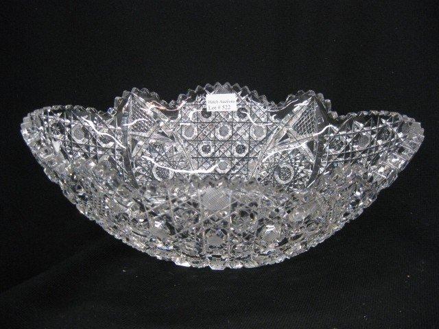 522: Cut Glass Banana Bowl, oval, Harvard & starbursts,