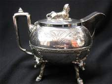 941: Victorian Silverplate Syrup Pitcher, aesthetic mov