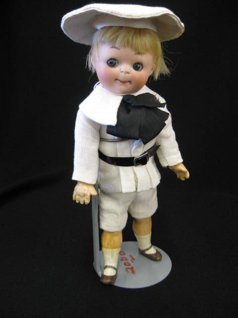 "1: ""Googlie Eye"" Bisque Head Boy Doll by Heubach-Koppel"