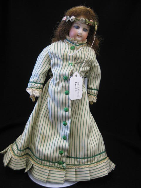 """4: Victorian French Fashion Doll, bisque head, 11 1/2"""","""