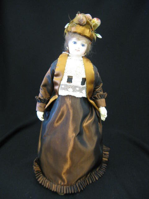 5: Victorian French Fashion Doll, bisque head, pierced