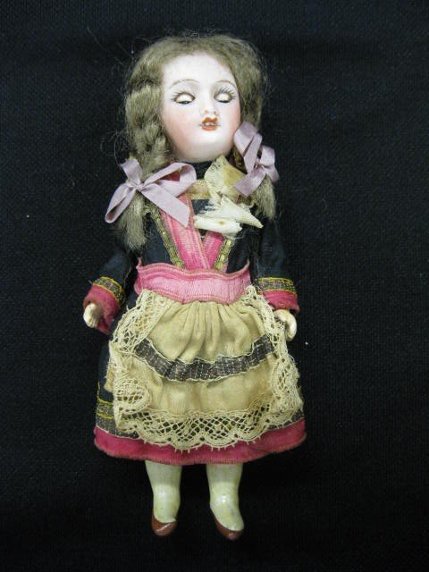 """6: Victorian French Bisque Head Doll, 6""""."""