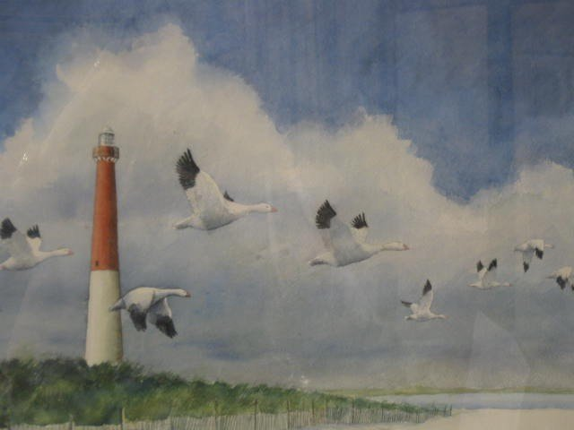 13: Helen Scheffley, Watercolor geese in flight along t