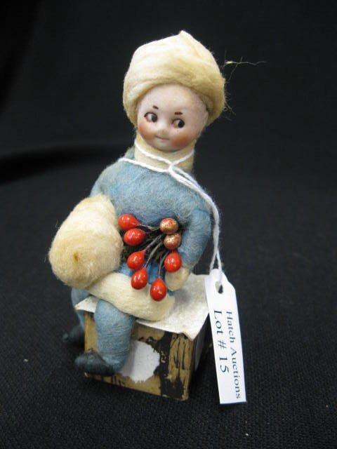 15: Victorian Bisque Head Doll, googlie eye girl with f