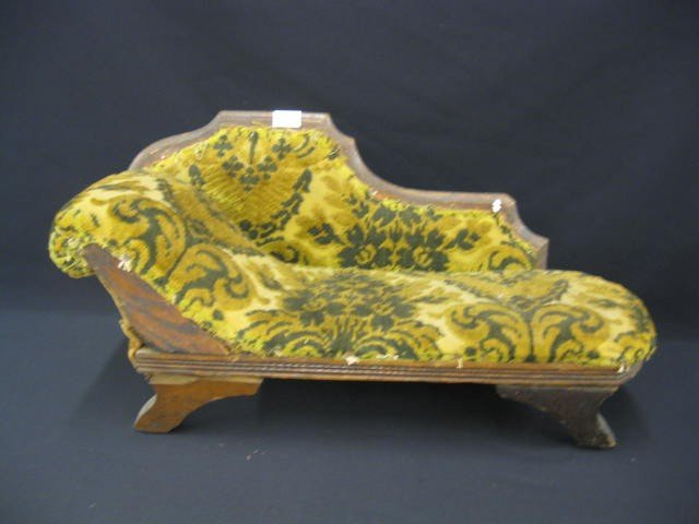 20: Victorian Doll Size Fainting Couch, circa 1880's, 2
