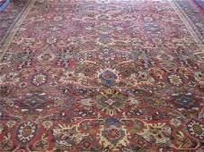 291: Mahal Persian Handmade Room Size Rug, elaborate fl