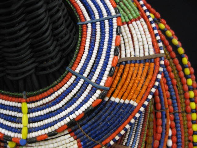 402A: 5 African Tribal Necklaces or Collars, colorful b - 3