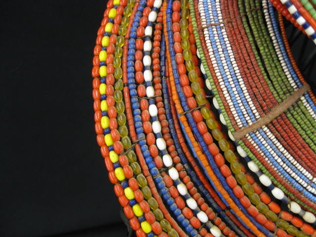 402A: 5 African Tribal Necklaces or Collars, colorful b - 4