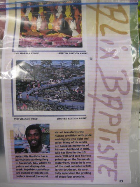 405A: Alix Baptiste, Acrylic, Haiti Village Scene, well - 4