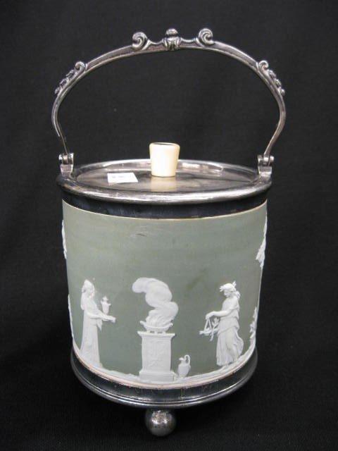 505: Wedgwood Jasperware Biscuit Jar,