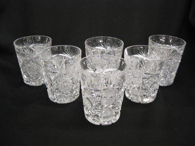 518: Set of 6 Cut Glass Tumblers,