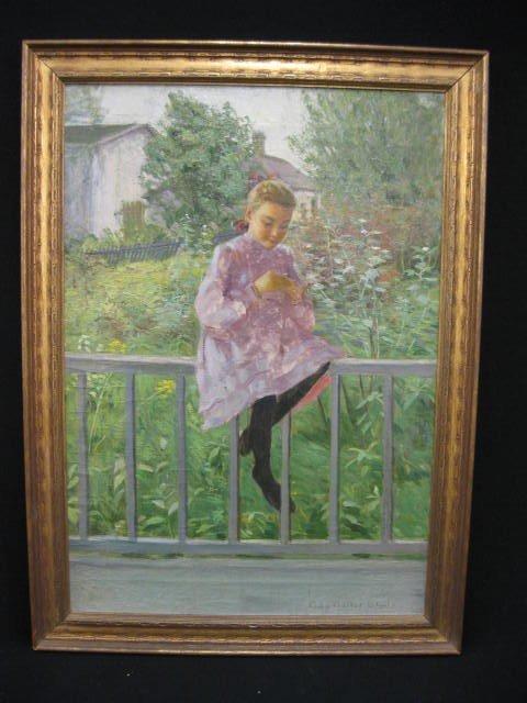 772: Ada Walter Shulz, Oil, Impressionistic,