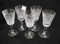 984 5 Waterford Alana Crystal Sherry Glasses