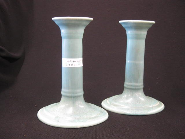 4: Pair of Rookwood Pottery Candlesticks,