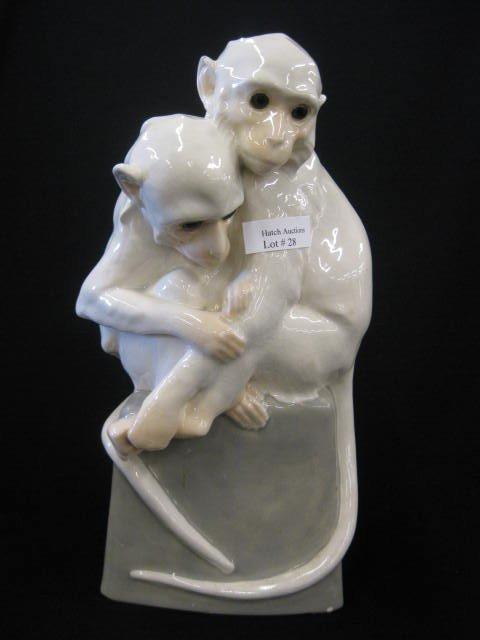 28: Weiner Werkstatte Austria Pottery Figurine