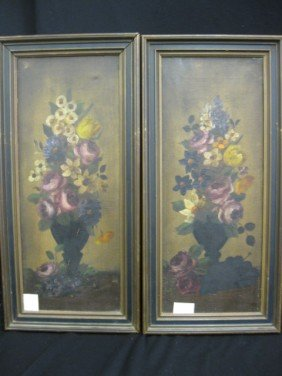 Pair Of Victorian Oil Paintings, Still Life With