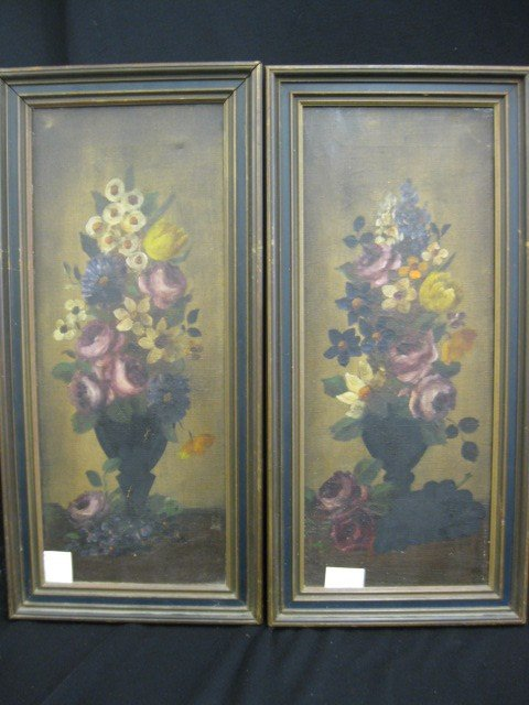 68: Pair of Victorian Oil Paintings, Still Life with