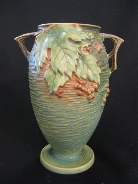 "77: Roseville ""Bushberry"" Art Pottery Vase,"