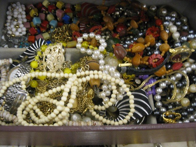 148A: Lot of Costume Jewelry, includes ivory, - 2