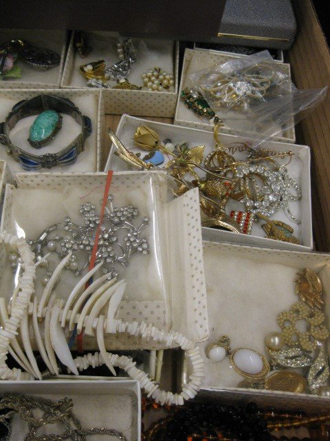 148A: Lot of Costume Jewelry, includes ivory, - 3