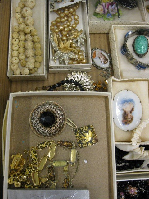 148A: Lot of Costume Jewelry, includes ivory, - 4